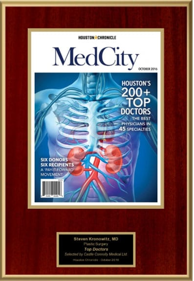 Dr. Kronowitz Awarded Top Doctors 2016, Med City