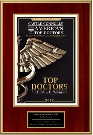 Dr. Kronowitz Awarded Top Doctors 2017 by Castle Connolly